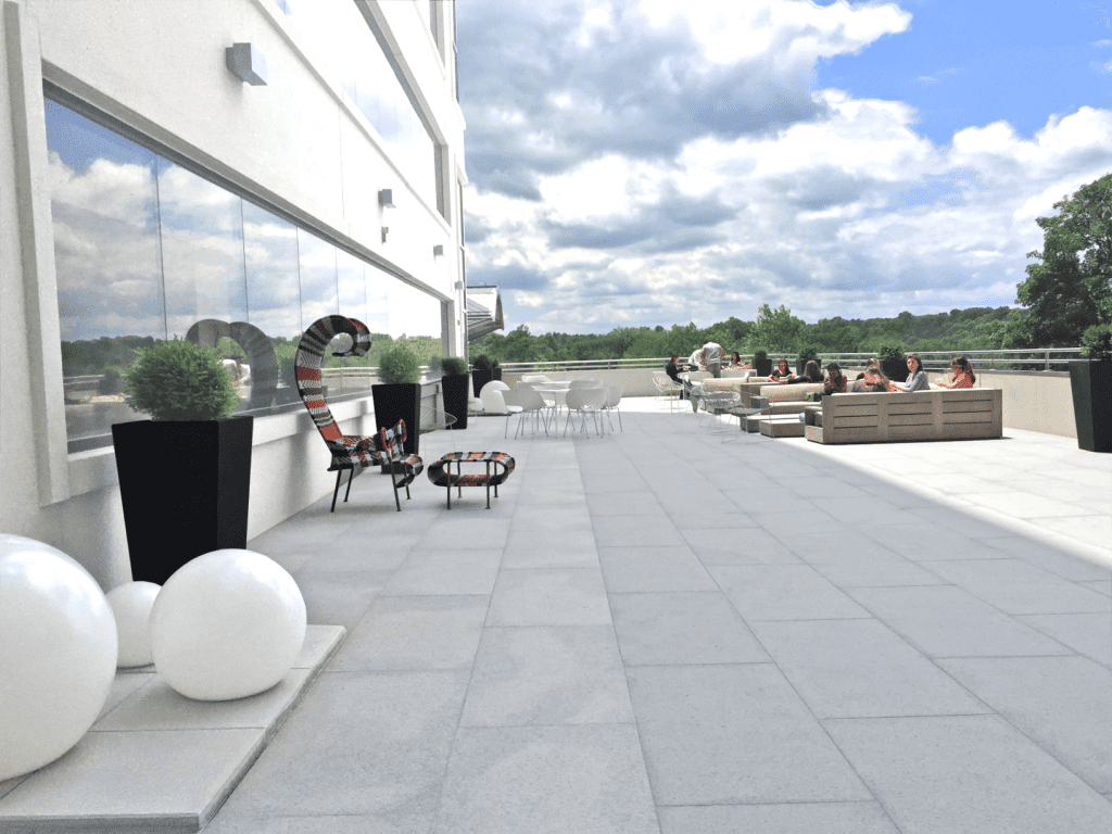 Work outside from our outdoor terrace with views of Northern Virginia and Washington DC