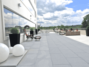 Work from out outdoor terrace in the heart of Tysons Virginia
